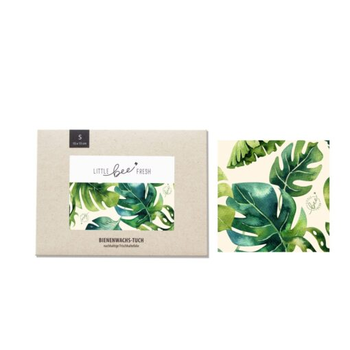 little bee fresh Bio-Bienenwachstuch Set Jungle Green S