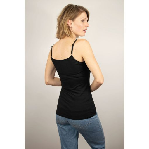 Honest Basics Woman Spaghetti Top schwarz