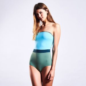 MYMARINI BANDEAUSUIT SHINE shades of the ocean