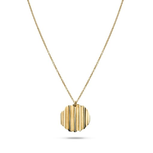 Jukserei Round Chips Necklace gold