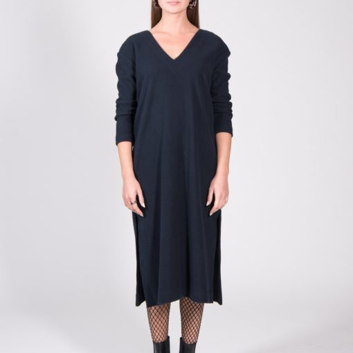 JAN N JUNE Dress Luton Corduroy Sweat midnight (2)