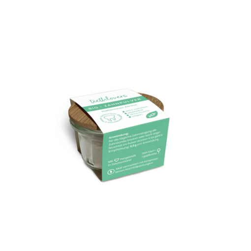 teethlovers Bio-Zahnpulver Pfefferminze-Zitrone