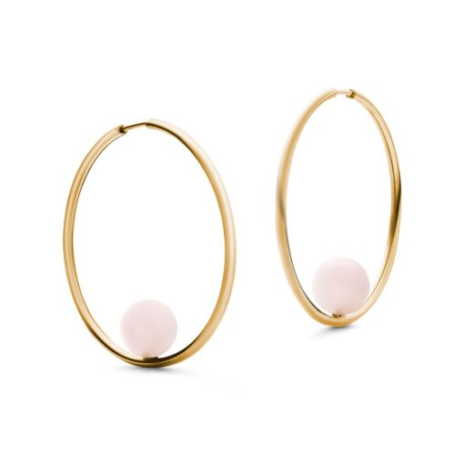 Jukserei Ohrringe Alba Stone Hoops Gold-Rose