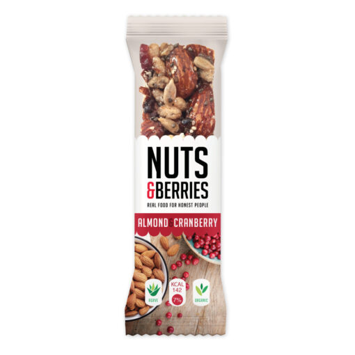 Nuts & Berries Bio-Riegel Almond & Cranberry