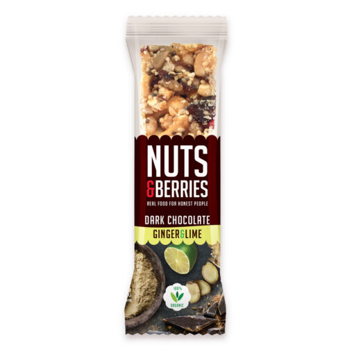 Nuts & Berries Bio-Riegel Dark Chocolate Ginger & Lime