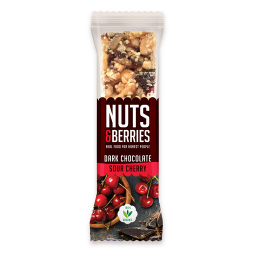 Nuts & Berries Bio-Riegel Dark Chocolate Sour Cherry