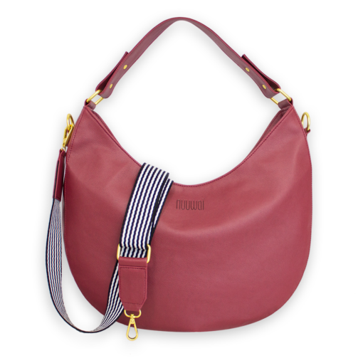 nuuwai Vegan Hobo Bag red berry