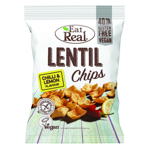 "Eat Real Lentil Chips ""Chili & Lemon"""