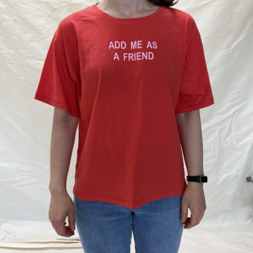 """another brand T-Shirt """"Add me"""" in rot - Dritte Wahl"""